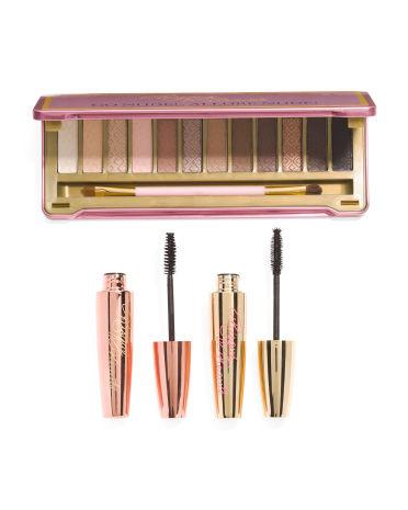 Go Nude Eyeshadow Palette Tin & Mascara Set