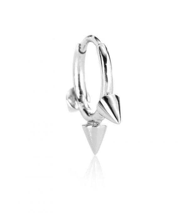14kt white gold single earring