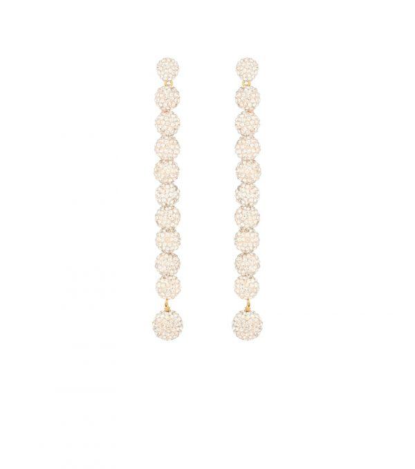 Caterpillar crystal-embellished earrings