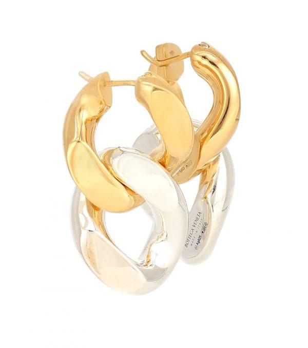 Chain sterling-silver earrings