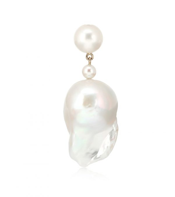 Exclusive to Mytheresa - Venus Grande 14-kt gold single earring with pearls