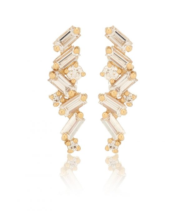 Fireworks 18kt gold earrings with diamonds