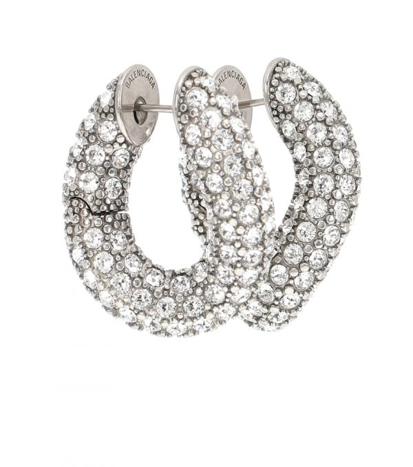 Loop embellished hoop earrings