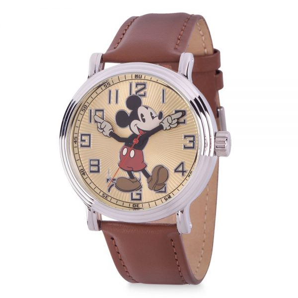Mickey Mouse Vintage-Style Silver Alloy Watch for Men Official shopDisney