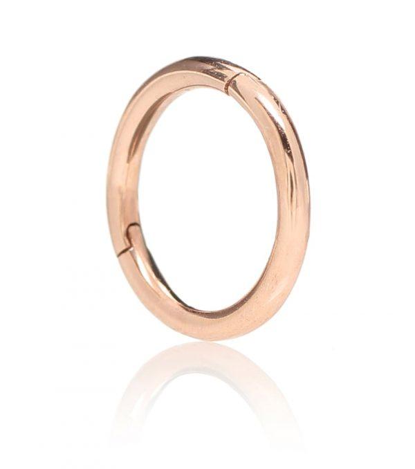 Plain Ring 14kt rose gold earring