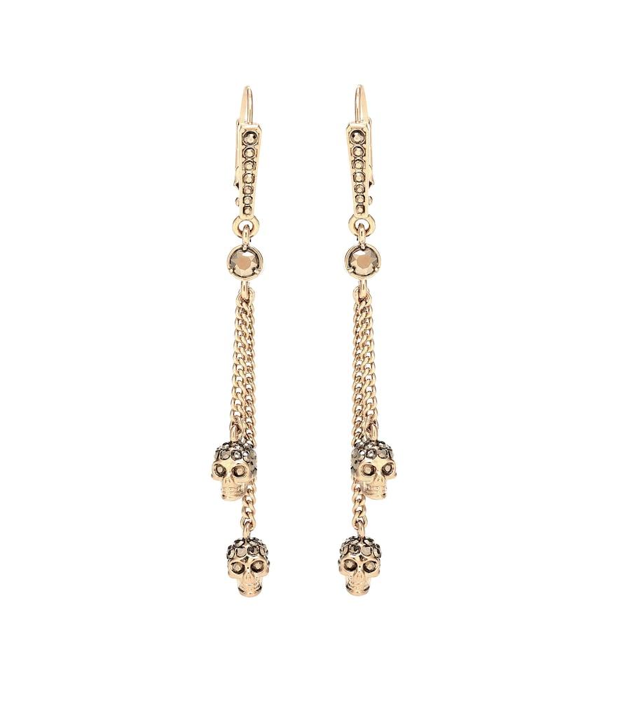 Skull embellished earrings