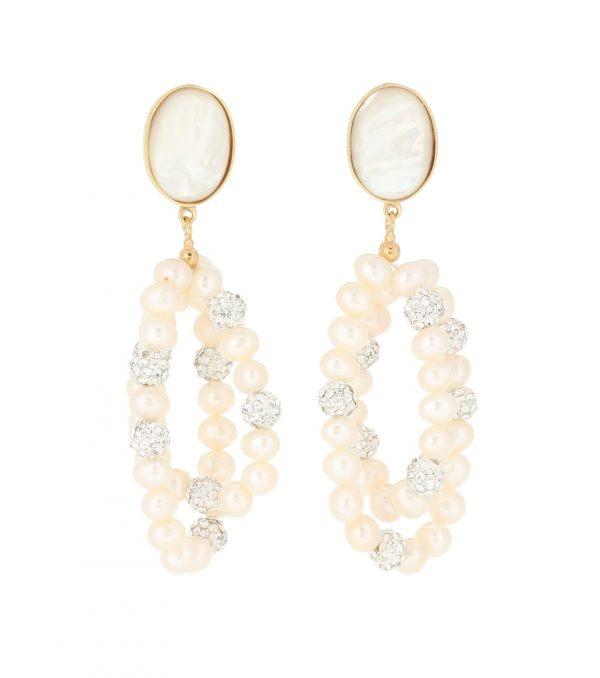 Windflower embellished earrings