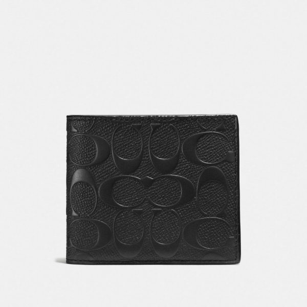 3-in-1 Wallet In Signature Leather in Black
