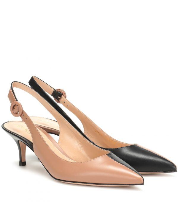 Arleen slingback leather pumps
