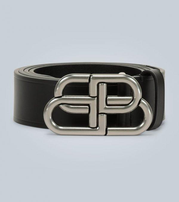 BB large leather belt