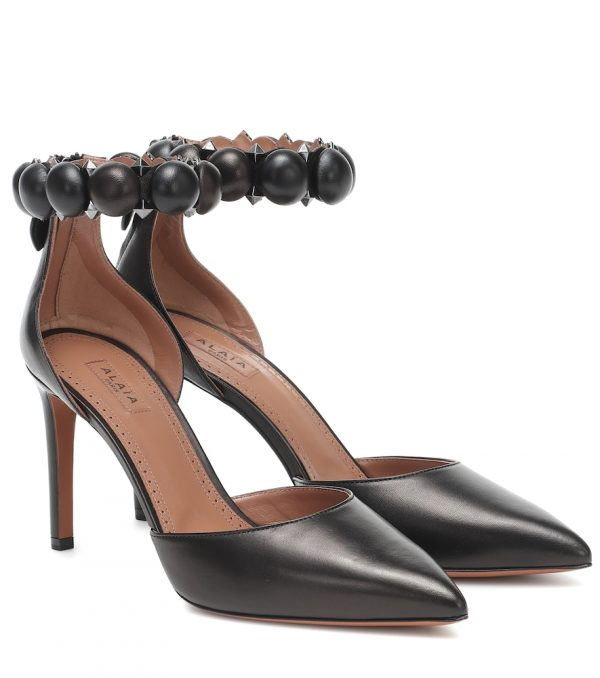 Bombe leather pumps