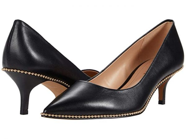 COACH Jackie Pump (Black Leather) Women's Shoes