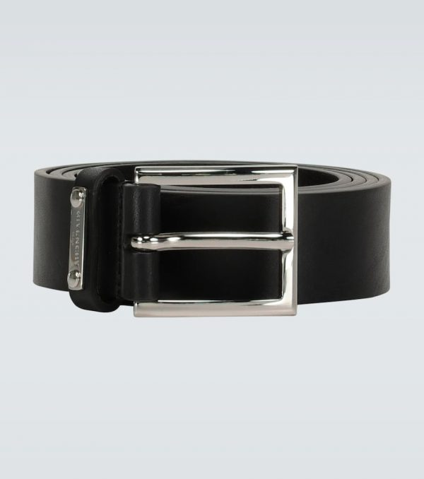 Classic leather buckle belt