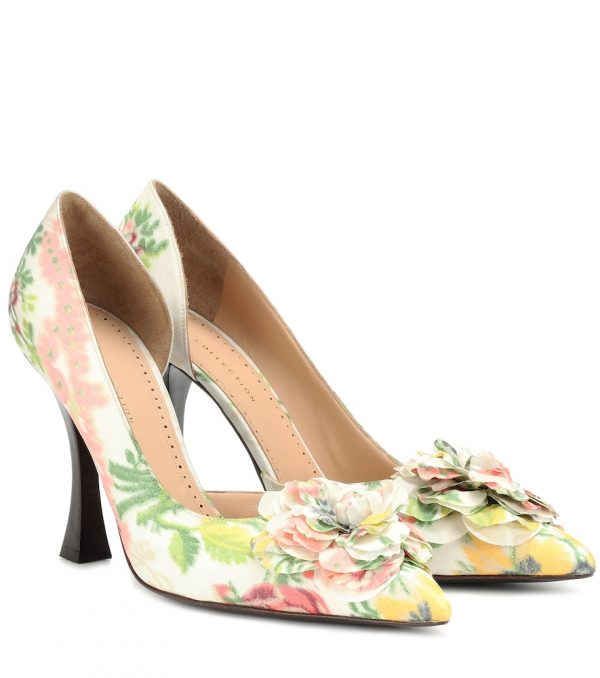 Exclusive to Mytheresa - Floral pumps