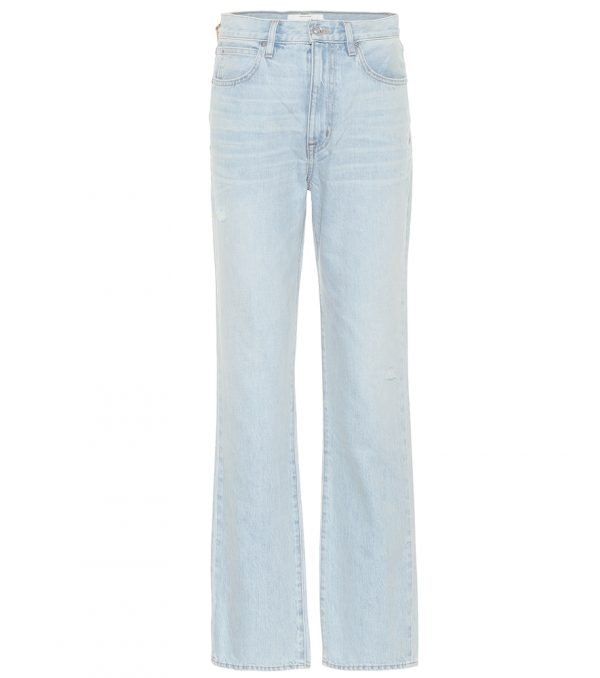 London high-rise straight-leg jeans