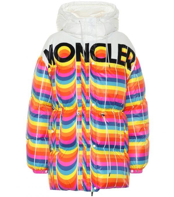 0 MONCLER RICHARD QUINN Mia striped puffer jacket