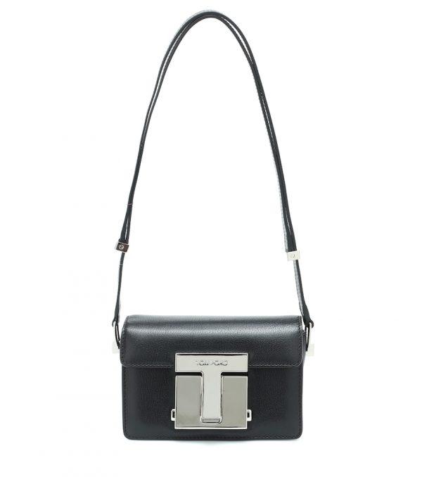 001 Small leather shoulder bag