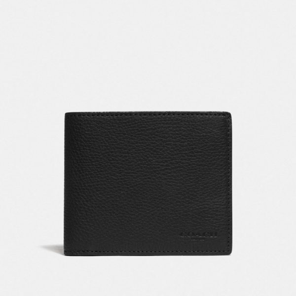 3-in-1 Wallet With Signature Canvas Detail in Black