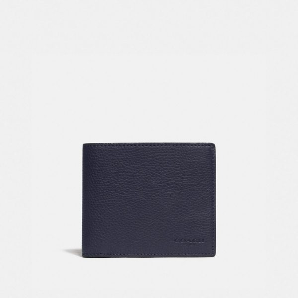 3-in-1 Wallet With Signature Canvas Detail in Blue