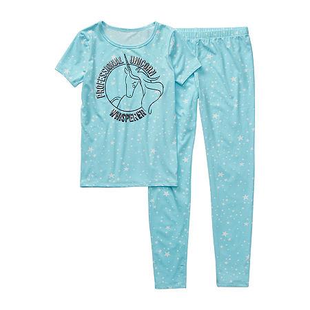 Arizona Little & Big Girls 2-pc. Pant Pajama Set, 4 , Blue