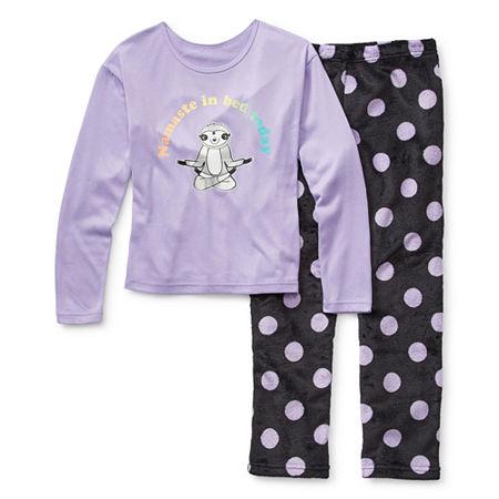 Arizona Little & Big Girls 2-pc. Pant Pajama Set, Xx-small (4-5) , Purple