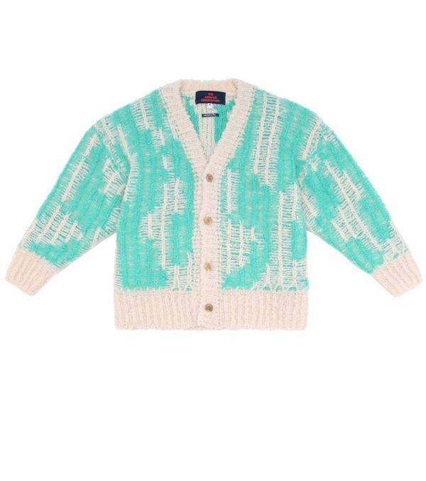 Arty Racoon wool-blend cardigan