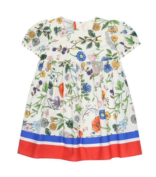 Baby Flora Festival printed cotton dress