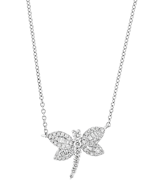 Bloomingdale's Diamond Dragonfly Pendant Necklace in 14K White Gold, 0.40 ct. t.w. - 100% Exclusive