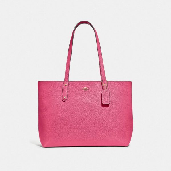 Central Tote With Zip in Pink