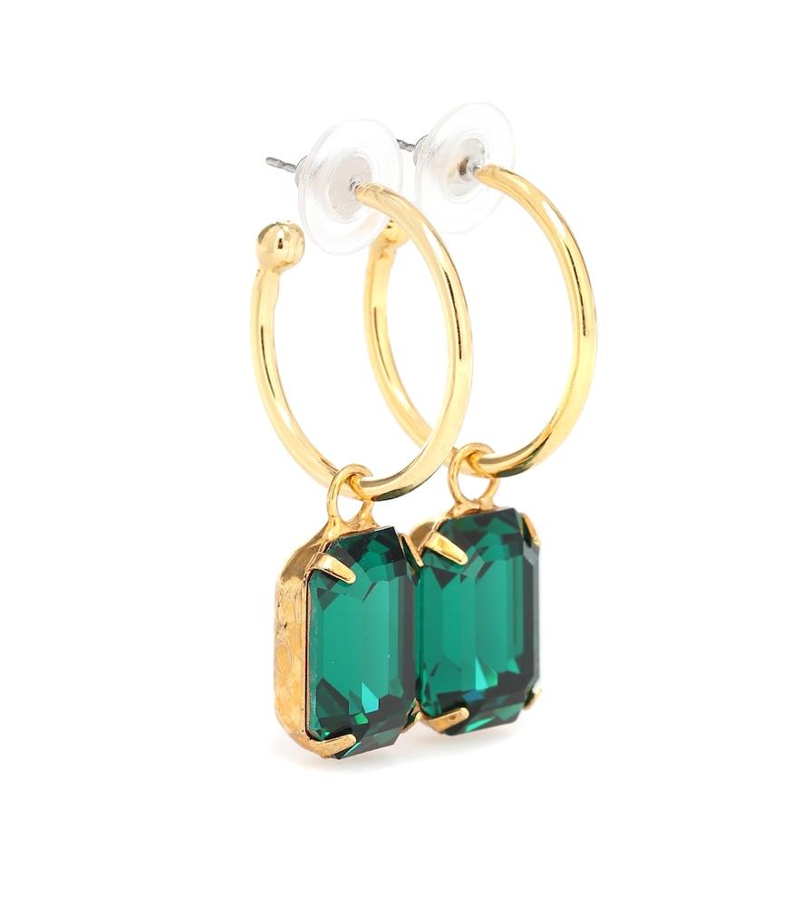 Exclusive to Mytheresa - Jane embellished hoop earrings