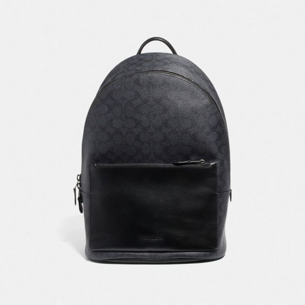 Metropolitan Soft Backpack In Signature Canvas in Grey