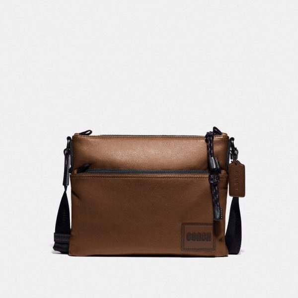 Pacer Crossbody With Patch in Brown