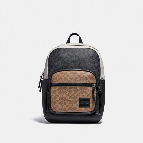Pacer Tall Backpack 29 In Colorblock Signature Canvas in Multi