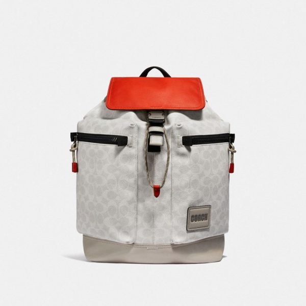 Pacer Utility Backpack In Signature Canvas With Patch in Multi