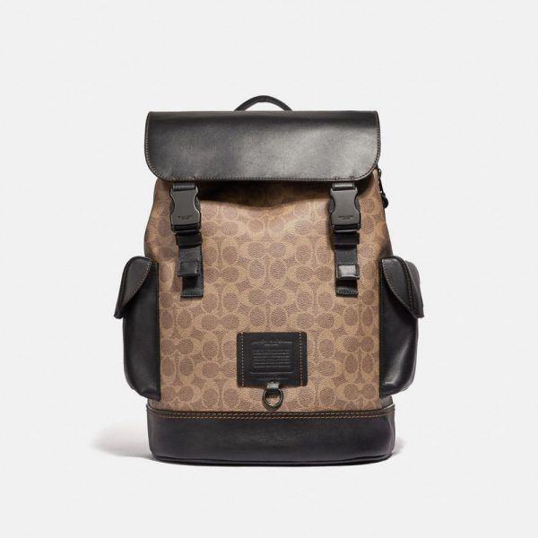 Rivington Backpack In Signature Canvas in Beige/Brown
