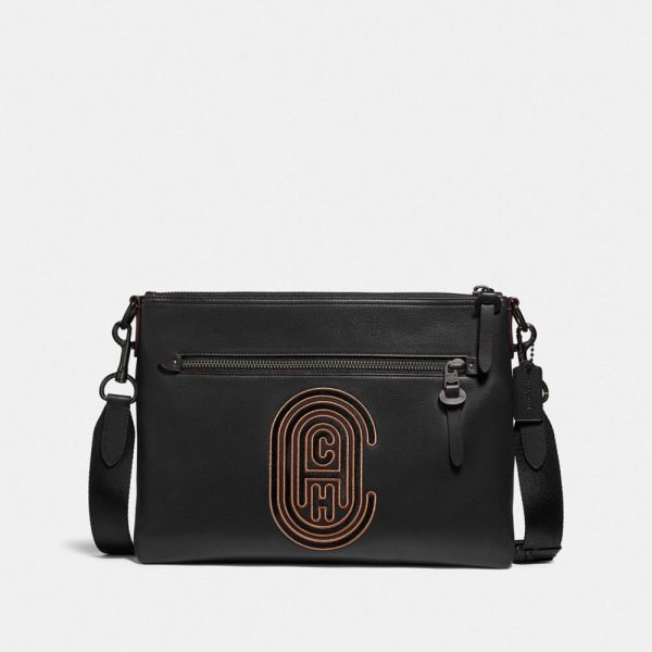 Rivington Messenger With Patch in Black