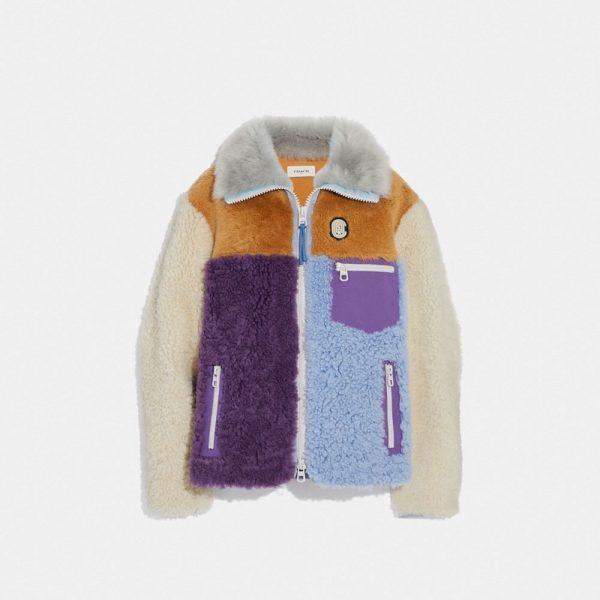 Shearling Jacket in Multi - Size 10
