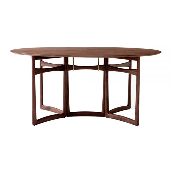 &Tradition - Drop Leaf Dining Table - Oiled Walnut