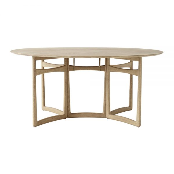 &Tradition - Drop Leaf Dining Table - White Oiled Oak