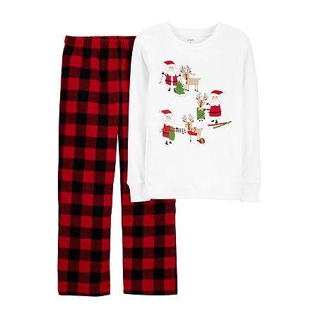 Carter's Little & Big Girls 2-pc. Pajama Set, 6 , White