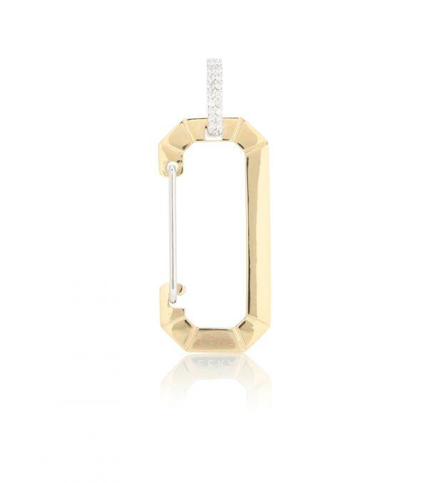 Chiara Big 18kt gold single earring with diamonds