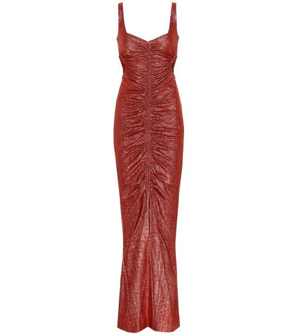 Sahara metallic lamé dress