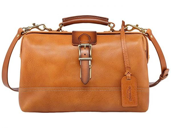 Old Trend Genuine Leather Doctor Satchel Bag (Chestnut) Handbags