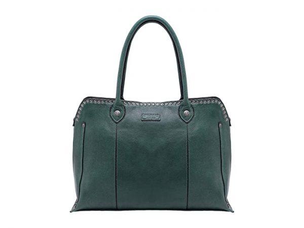 Old Trend Genuine Leather Soul Stud Satchel Bag (Kale) Handbags