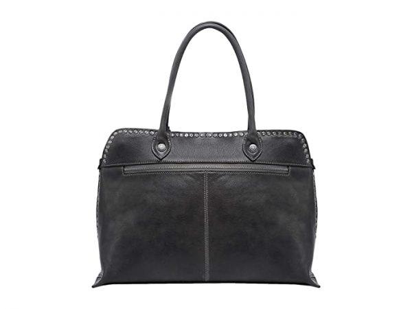 Old Trend Genuine Leather Soul Stud Satchel Bag (Slate) Handbags