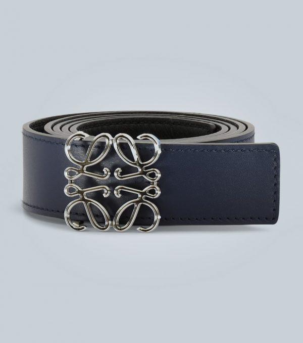 Anagram leather belt
