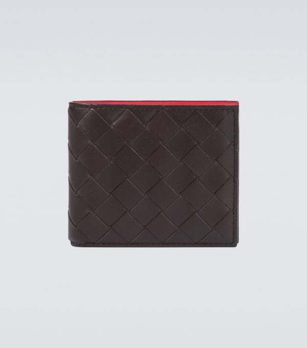 Bifold Intrecciao leather wallet