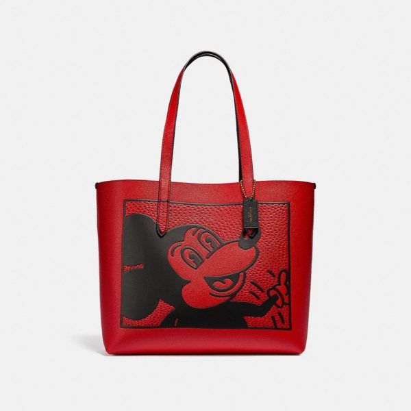 Disney Mickey Mouse X Keith Haring Highline Tote in Red