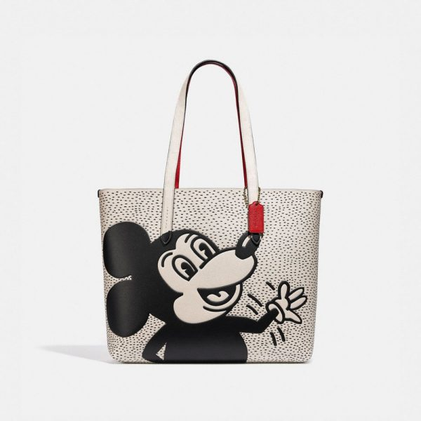 Disney Mickey Mouse X Keith Haring Highline Tote in White