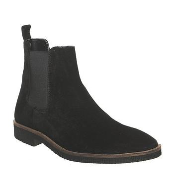 Office Buster Chelsea Boot BLACK SUEDE